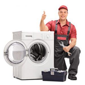 Washing repair workman